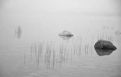 Photograph - Two Rocks Bw by Jim Dollar