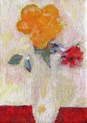 Painting - Two Roses In A Vase by Anita Dale Livaditis