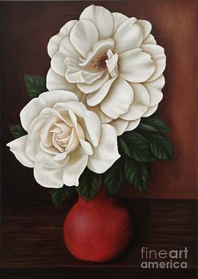 Painting - Two Roses by Paula Ludovino