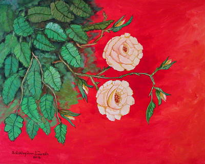 Painting - Two Roses by Ashley Goforth