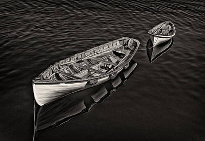 Photograph - Two Row Boats by Fred LeBlanc