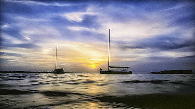 Photograph - Two Sailboats by Patrick M Lynch