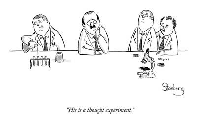 Thought Drawing - Two Scientists Discuss A Third by Avi Steinberg