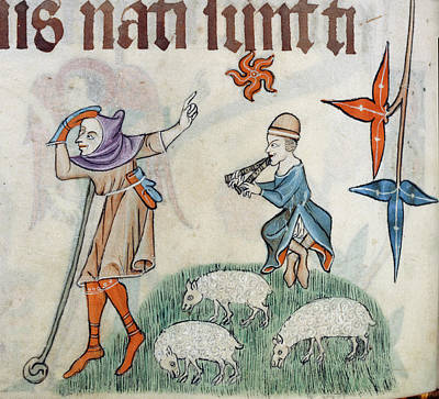 Two Shepherds Art Print by British Library