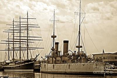 Photograph - Two Ships From Different Eras by Marcia Lee Jones