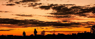 Photograph - Two Silhouettes In The Sunset by Semmick Photo