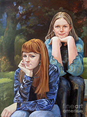 Painting - Two Sisters by Kathryn Donatelli