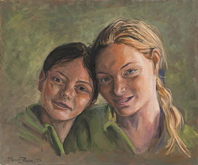 Two Sisters Art Print by Marco Busoni