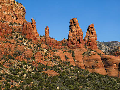 Photograph - Two Sisters Sedona Arizona by Marianne Campolongo