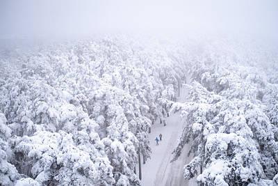 Photograph - Two Skiers by Ari Salmela