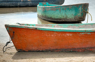 Photograph - Two Small Boats At Barra De Potosi. by Rob Huntley