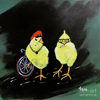 Two Smokin Hot Chicks Art Print by Janice Rae Pariza