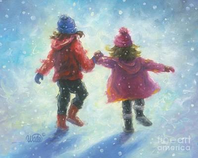 Two Snow Sisters Art Print