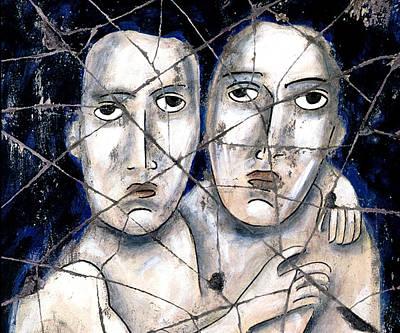 Bogdanoff Painting - Two Souls - Study No. 1 by Steve Bogdanoff