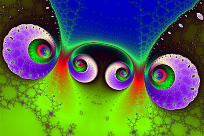 Two Spirals And A Glynn Print by Mark Eggleston