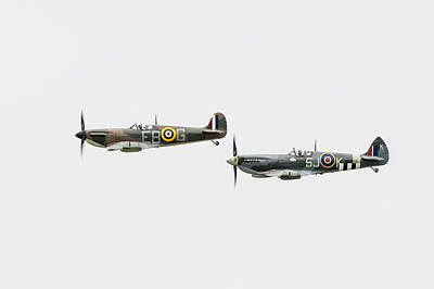 Photograph - Two Spitfires by Gary Eason