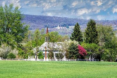 Church On The Hill Photograph - Two Steeples In Nippenose Valley by Stephanie Calhoun