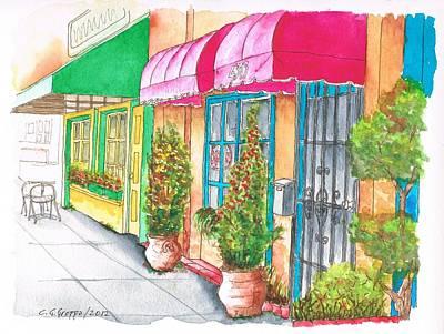 Two Stores In Riverside Ave - Toluca Lake - California Original by Carlos G Groppa