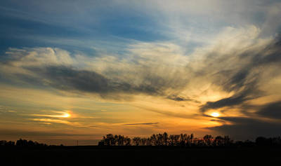 Art Print featuring the photograph Two Suns Over Kentucky by Peta Thames