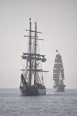 Two Tall Ships In Door County Art Print