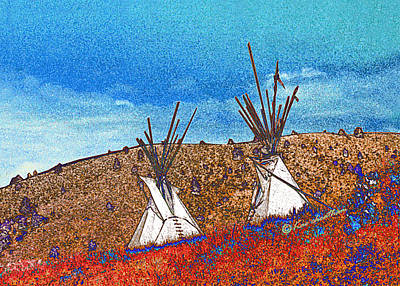 Two Teepees Art Print by Kae Cheatham