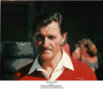 Two-time Formula One World Champion Graham Hill Art Print by Don Struke