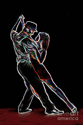 Ballroom Dancing Painting - Two To Tango by Sergio B