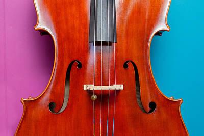 Musician Photograph - Two Tone Cello by Mela Luna