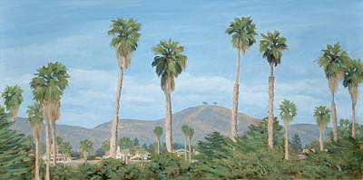 Two Tree's From Ventura State Park Art Print by Tina Obrien