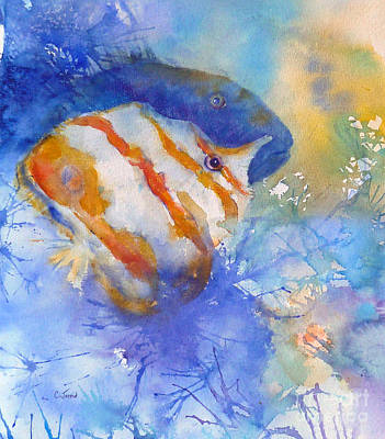 Painting - Two Tropical Fish by Carolyn Jarvis