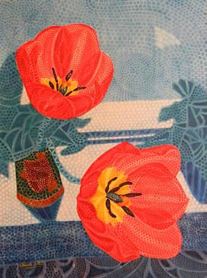 Two Tulips Art Print by Adel Nemeth