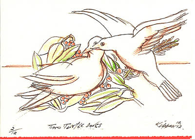Two Turtle Doves Original