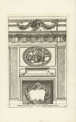 Tuscan Scene Painting - Two Tuscan Pilasters, Interior, Decoration, Design, Ornament by Jean Lepautre And Justus Danckerts