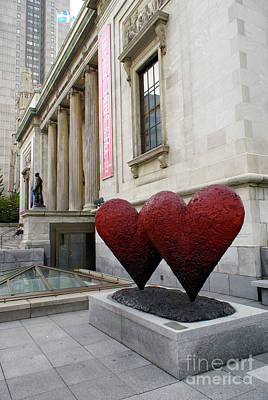 Photograph - Two Valentines Montreal Quebec by John  Mitchell