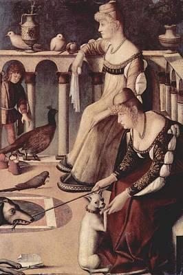Venetian Balcony Painting - Two Venetian Ladies by Vittore Carpaccio