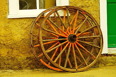 Two Wagon Wheels Art Print by Jeff Swan