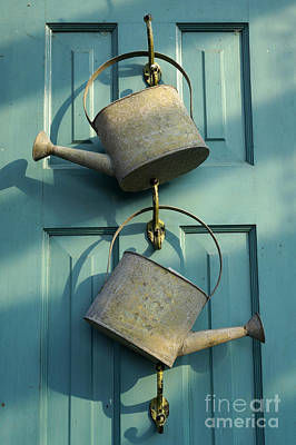 Photograph - Two Watering Cans by John  Mitchell