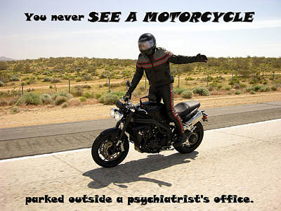 Motorcycle Photograph - Two Wheels by Erick Alan Dayhoff