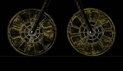 Digital Art - Two Wheels by Fran Riley