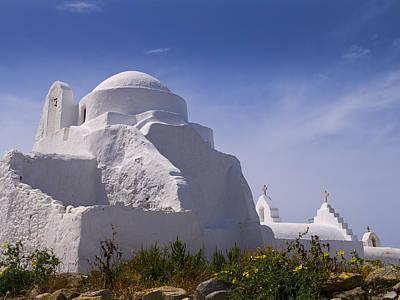 Photograph - Two White Churches by Brenda Kean