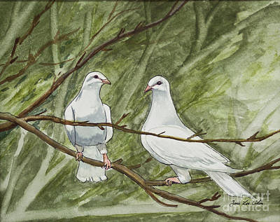 Painting - Two White Doves by Janis Lee Colon