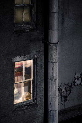 Two Windows And Pipe - Viewed From The Manhattan Bridge Art Print