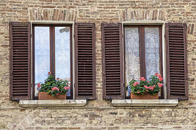 Photograph - Two Windows Of Florence by David Letts