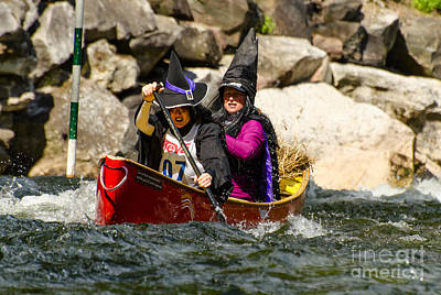 Photograph - Two Witches In A Whitewater Canoe by Les Palenik