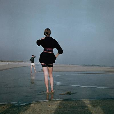 Shirt Photograph - Two Women At A Beach by Serge Balkin
