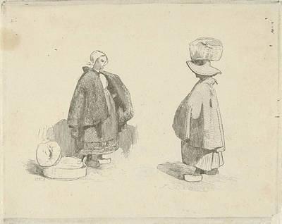 Two Women, Charles Rochussen Art Print by Charles Rochussen