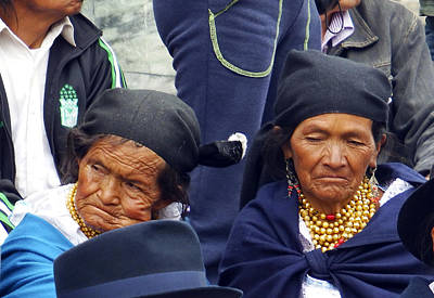 Photograph - Two Women Of Cotacachi by Kurt Van Wagner