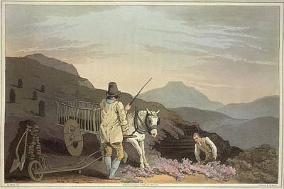 Cart Horse Photograph - Two Workers by British Library