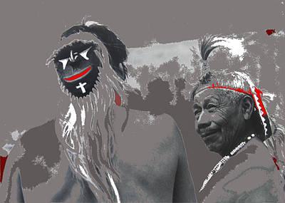 Yaqui Photograph - Two Yaqui Pascola Dancers Gallery In The Sun Tucson Arizona 1969-2013 by David Lee Guss