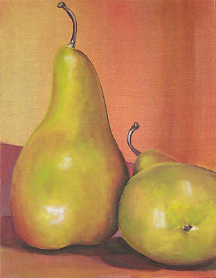 Two Yellow Pears Blenda Studio Art Print